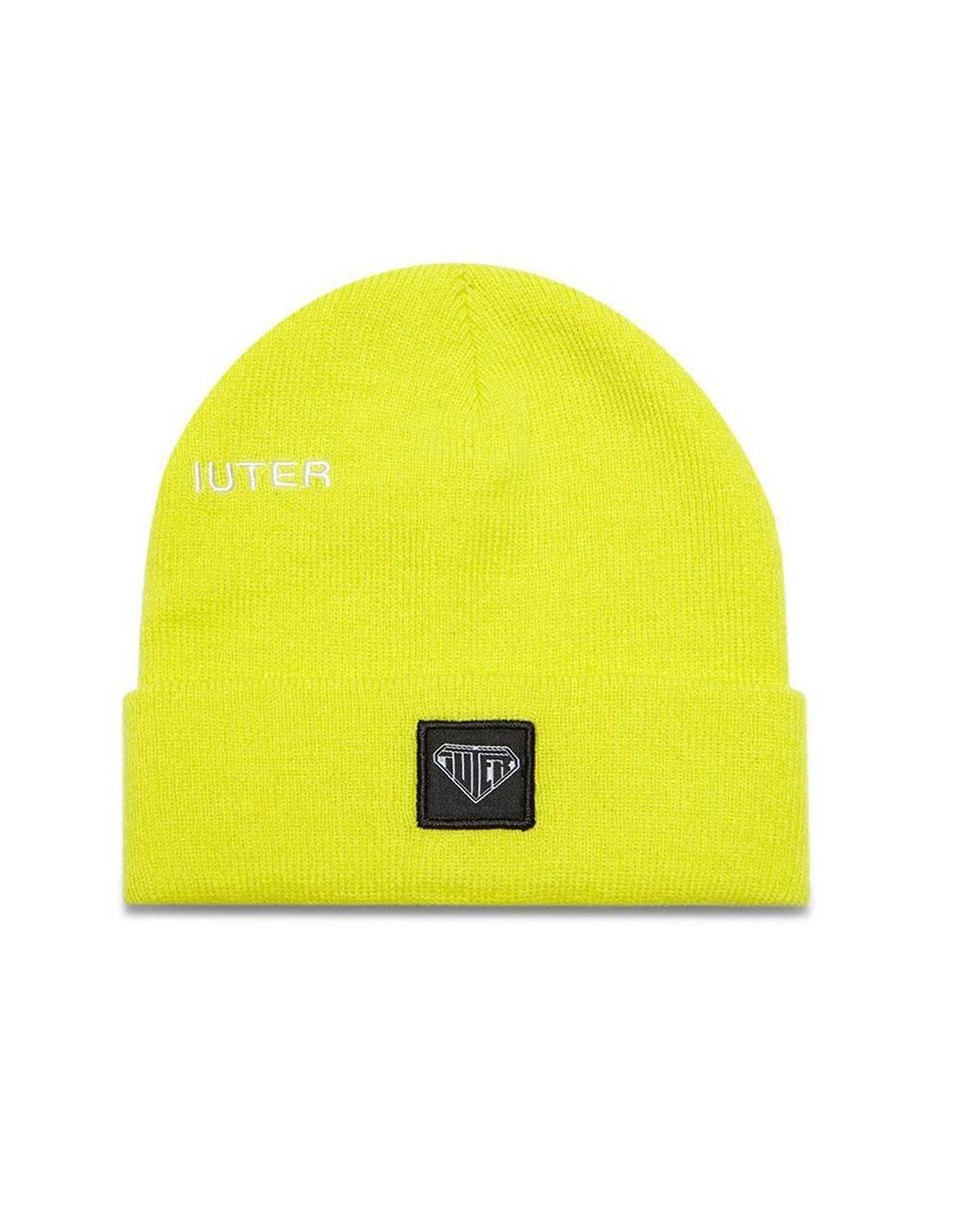 Iuter logo fold beanie - Neon Yellow IUTER Beanie 39,00€