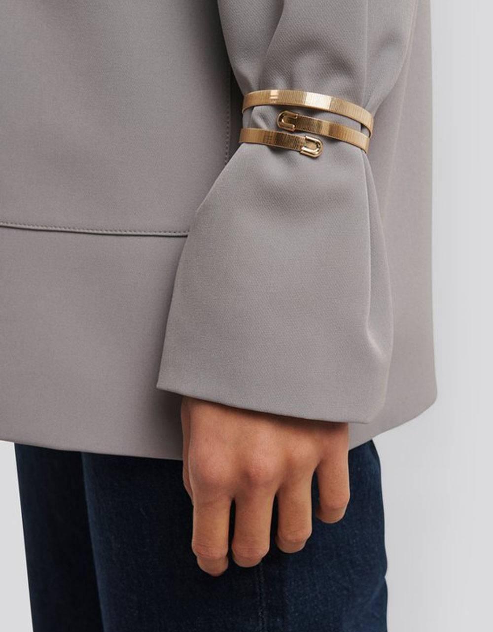 NA-KD 2-Pack Stiff Flat Chain Bracelet - gold NA-KD ACCESSORIES 14,75€