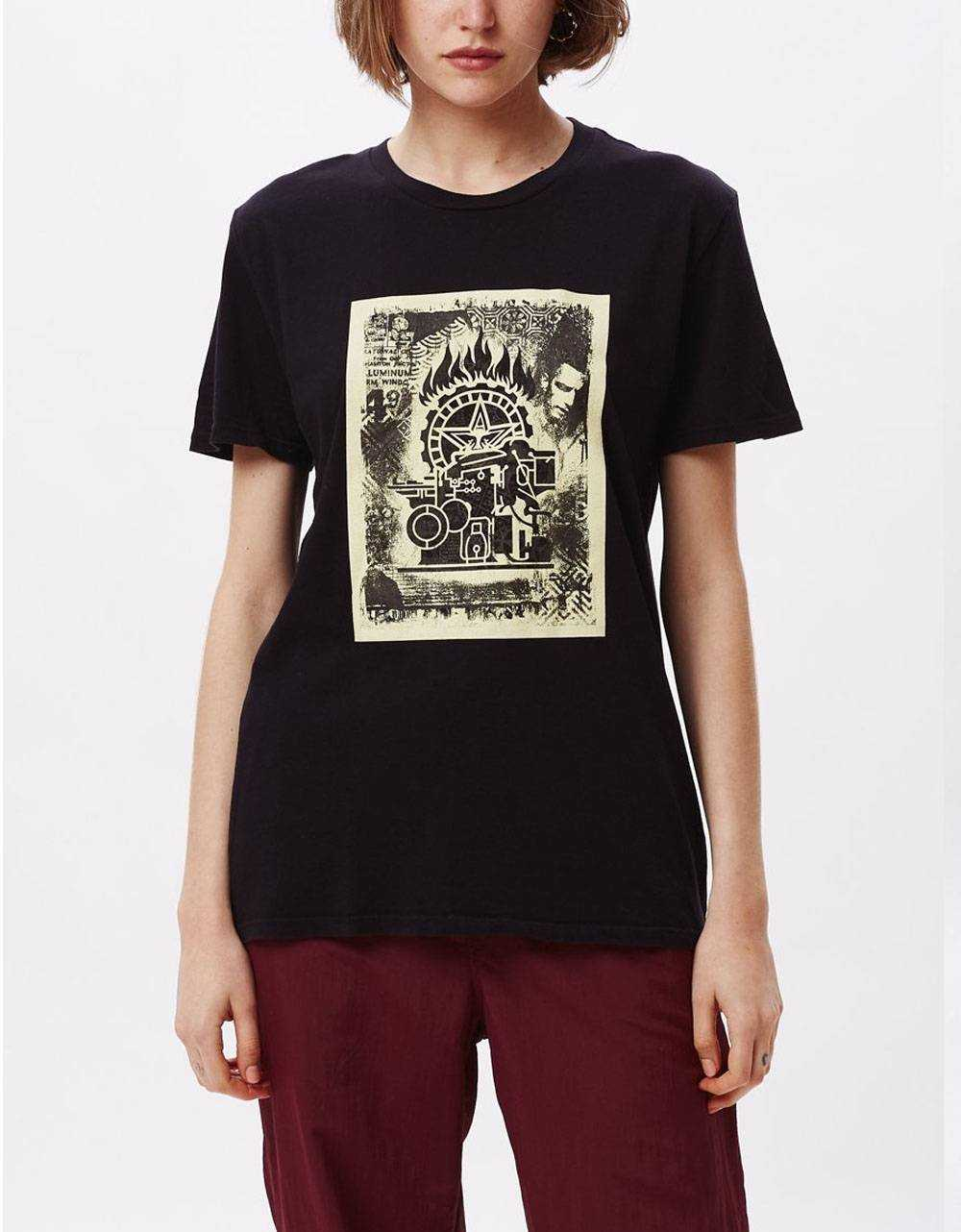 Obey Woman press etching classic tee - black obey T-shirt 36,89€