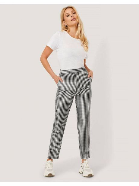 NA-KD by Nicole Mazzoccato high waist checkered suit pant - checkered NA-KD Pants 79,00€