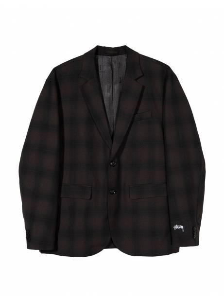 Stussy shadow plaid sport coat jacket - grey plaid Stussy Jacket 246,00€