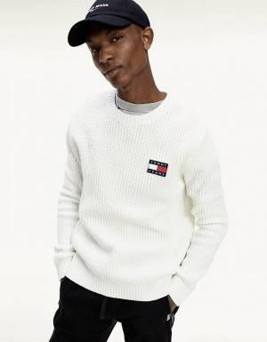 Tommy Jeans Badge knit sweater - ecru Tommy Jeans Knitwear 112,00€