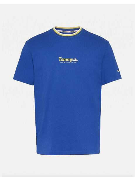 Tommy Jeans Contrast Mountain tee - providence blue Tommy Jeans T-shirt 45,00€