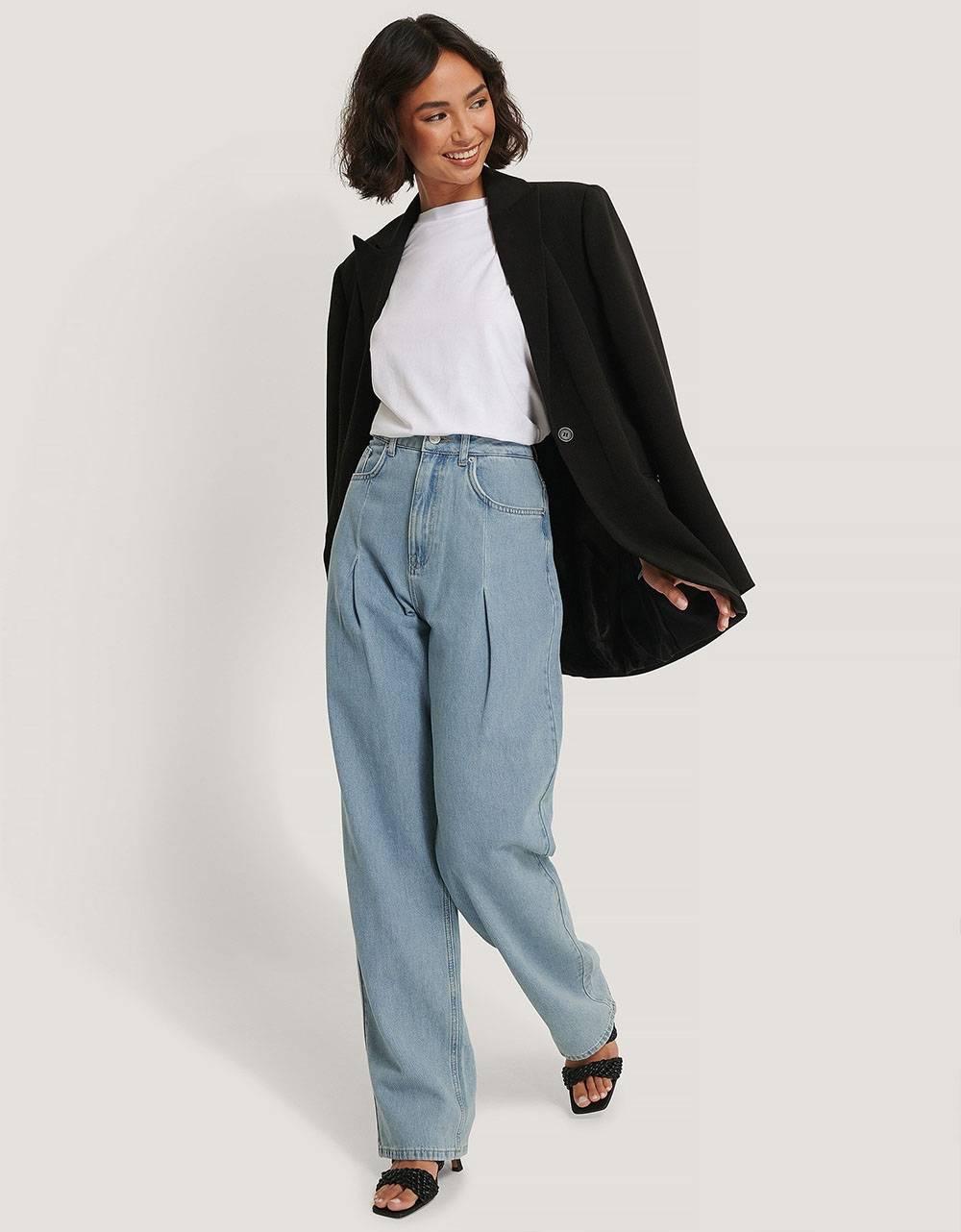 NA-KD wide leg pleat denim - light denim NA-KD Jeans 89,00€