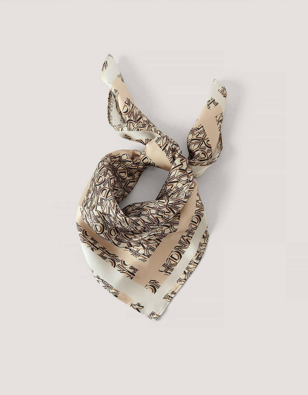NA-KD logo satin scarf - beige combo NA-KD ACCESSORIES 17,00€
