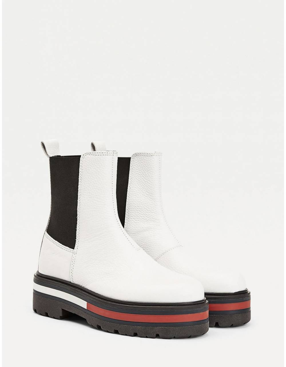Tommy Jeans woman Flag outsole chelsea boot - White Tommy Jeans Other shoes 179,00€