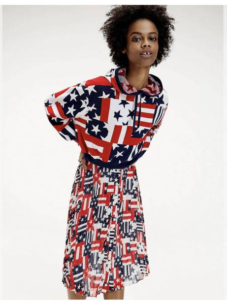 Tommy Jeans woman's Logo hoodie - Star stripe print Tommy Jeans Sweater 115,00€