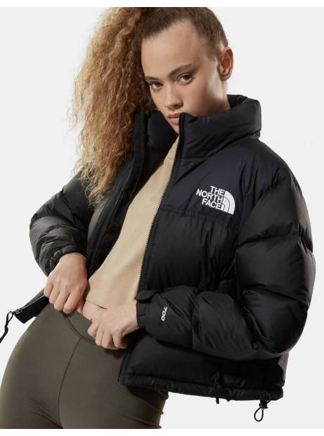 The North Face Woman's Nuptse crop jacket - black THE NORTH FACE Bomber 250,00€