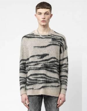 Religion UK Hunter knit jumper - sand/black Religion Knitwear 98,36€