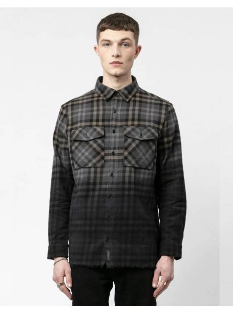 Religion UK Shred shirt - black/tan Religion Shirt 86,89€