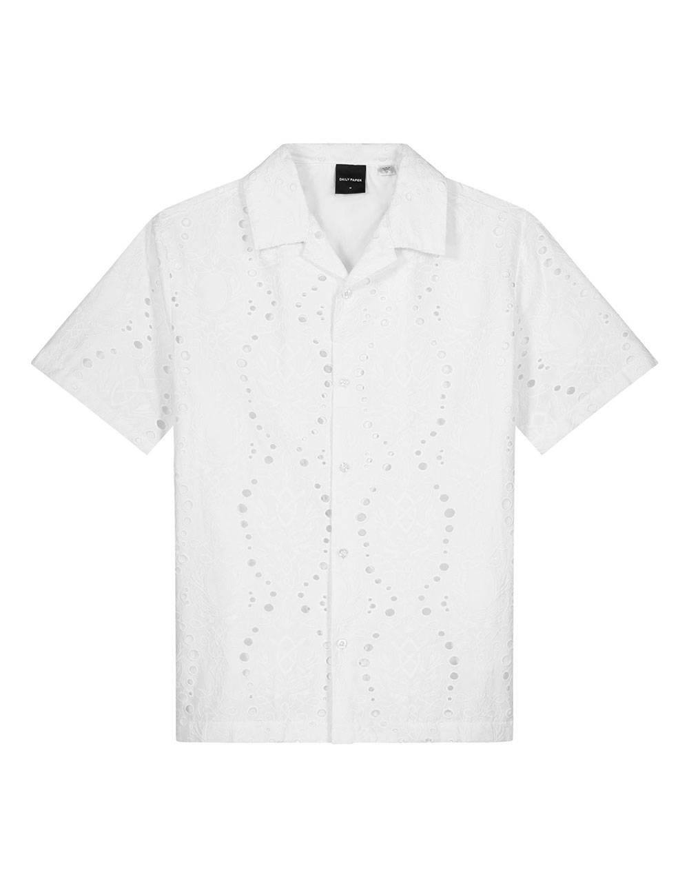 Daily Paper Kovan lace shirt - white DAILY PAPER Shirt 170,00€