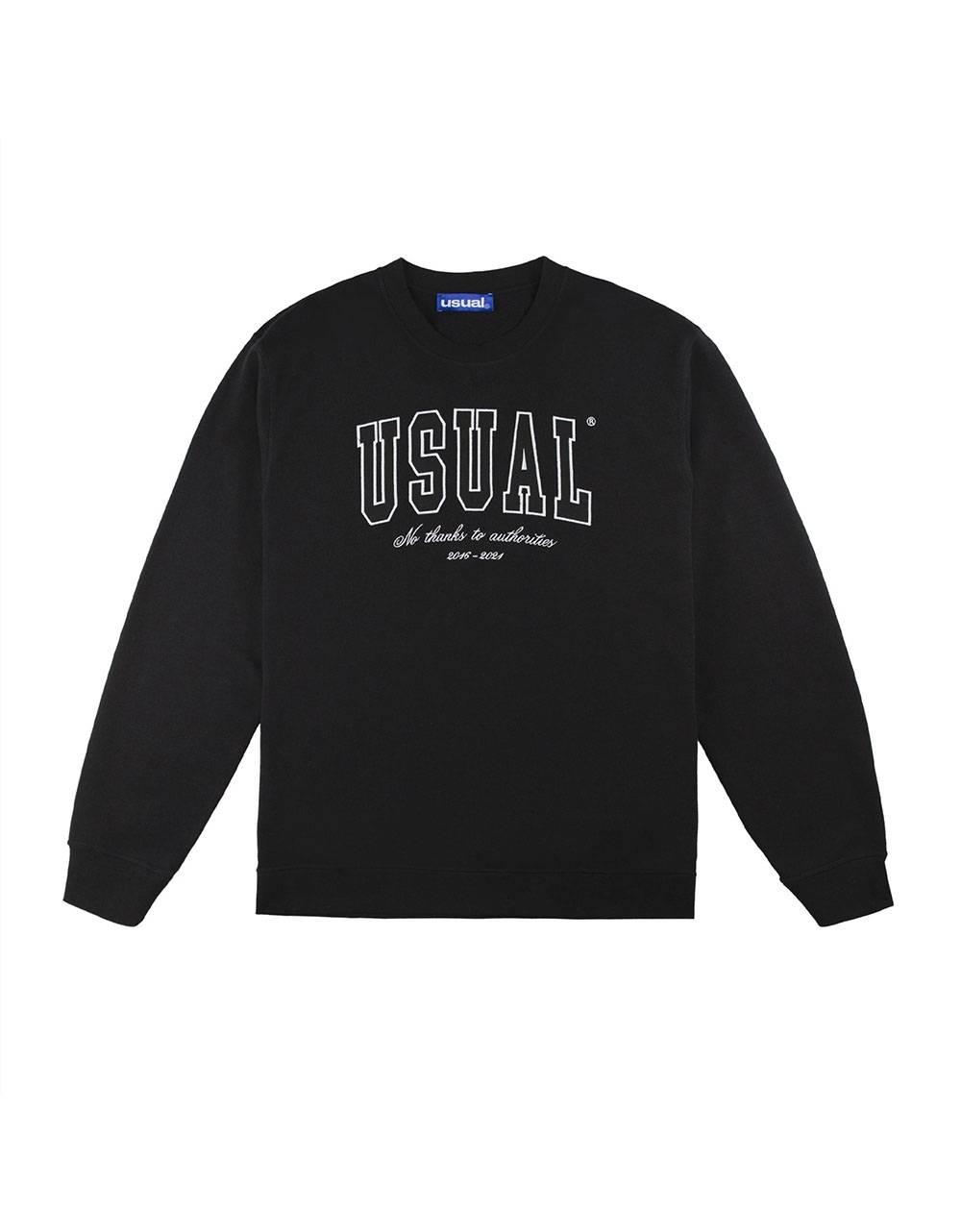 Usual No Thanx Crewneck sweatshirt - black Usual Sweater 94,26€