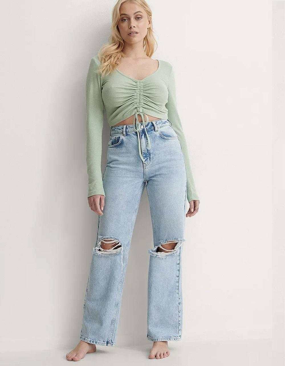 NA-KD wide leg denim - light blue NA-KD Jeans 65,00€