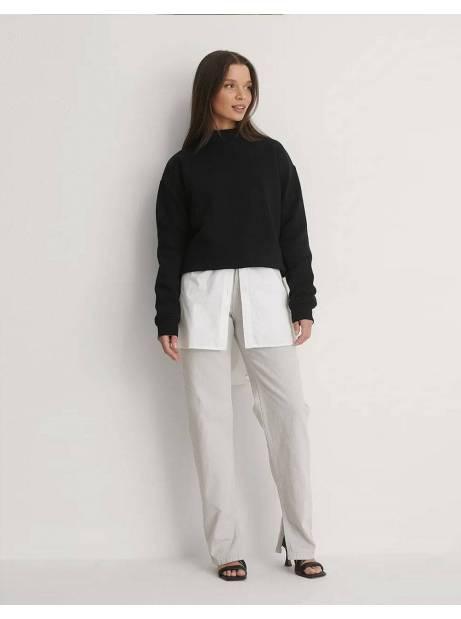 NA-KD side slit denim - light grey NA-KD Jeans 65,00€