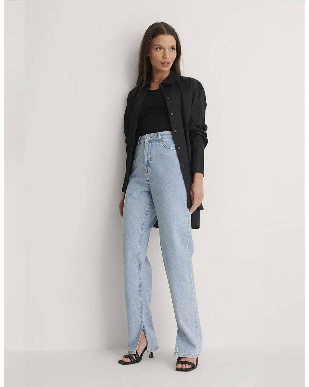 NA-KD side slit denim - vintage blue NA-KD Jeans 53,28€