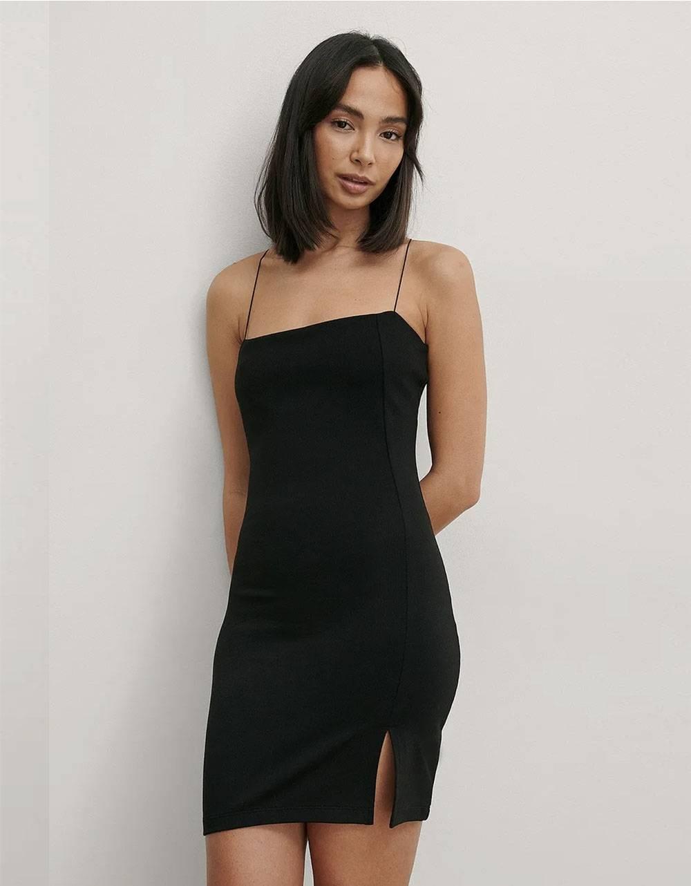 NA-KD tie shoulders mini dress - black NA-KD Dress 40,98€
