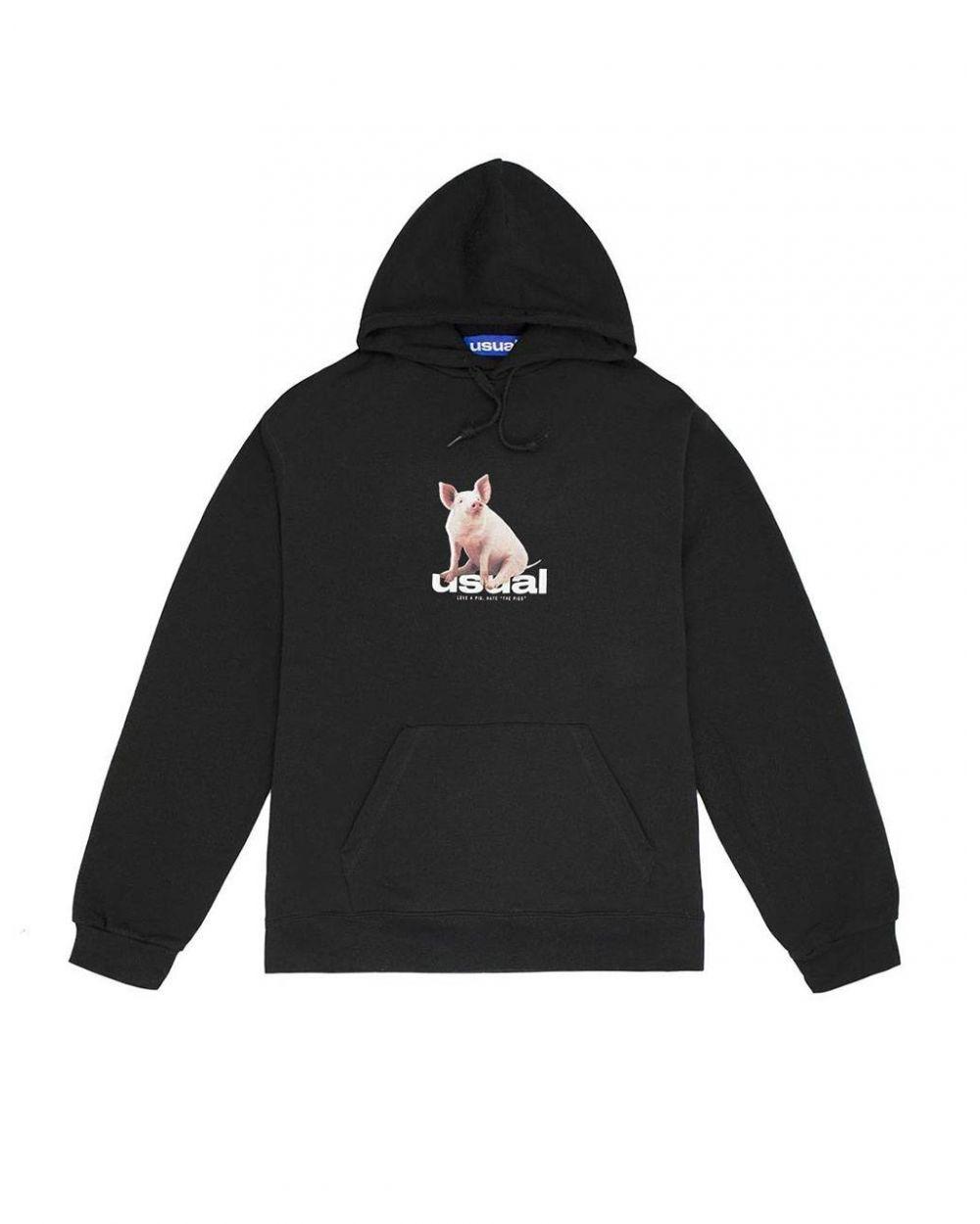 Usual Piggy Hooded Sweatshirt - black Usual Sweater 96,00€