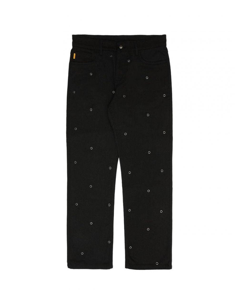 Pleasures Village rivet denim pants - black Pleasures Jeans 106,56€