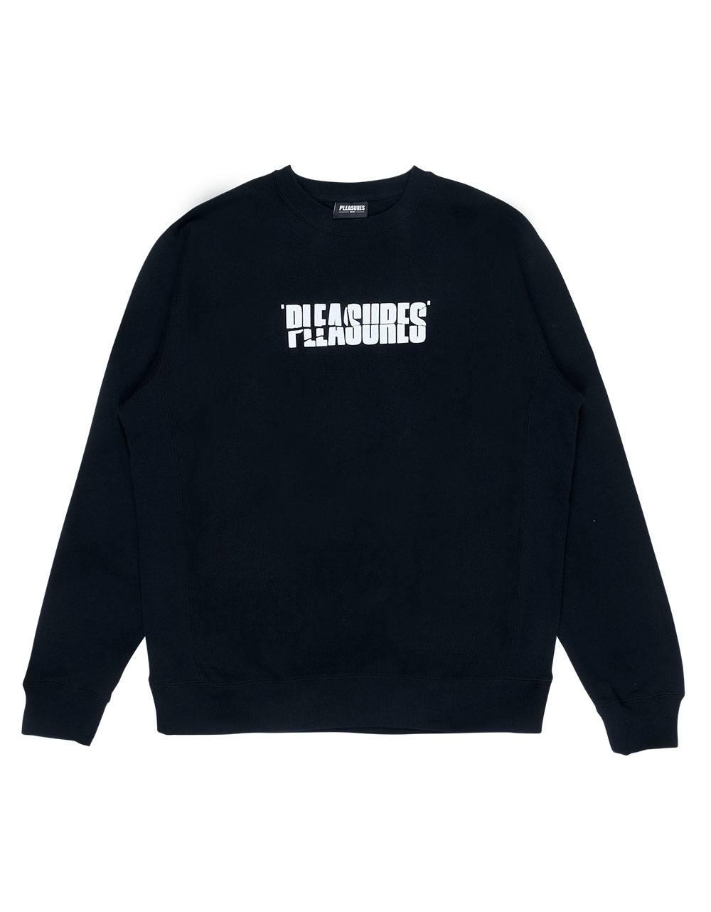 Pleasures Strees jazz premium crewneck sweater - black Pleasures Sweater 119,00€