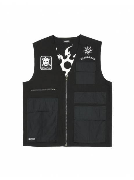 Pleasures Strike vest jacket - black Pleasures Light jacket 120,00€