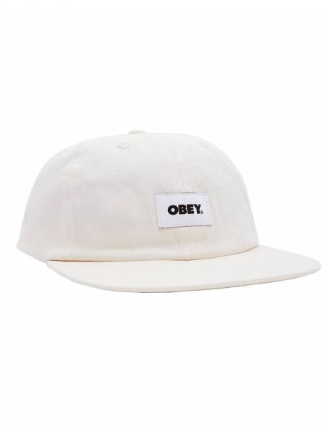 Obey bold label organic 6 panel strapback hat - sago obey Hat 45,00€