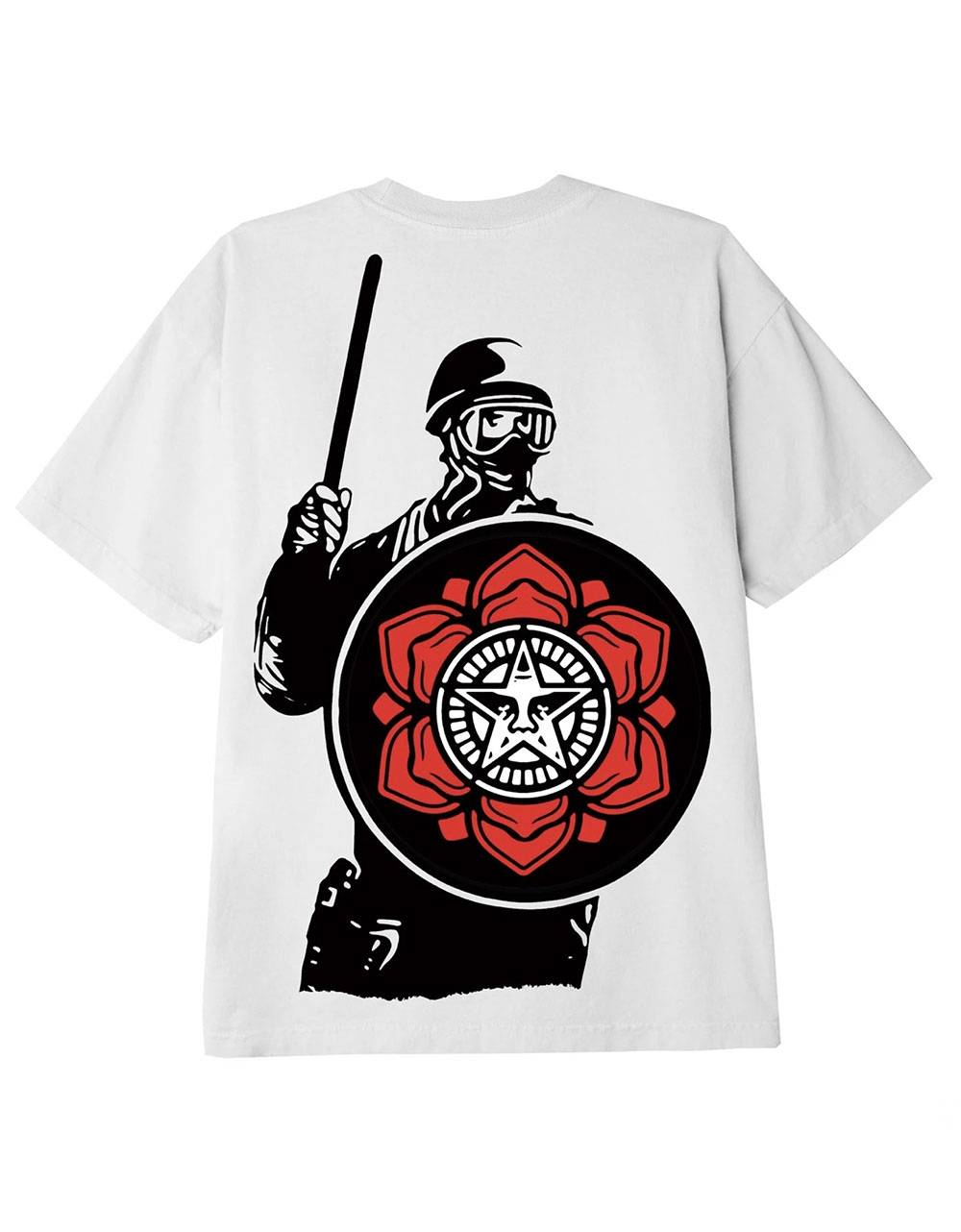Obey Riot cop peace shield classic t-shirt - white obey T-shirt 36,89€