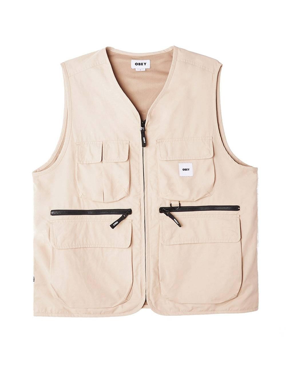 Obey Warfield vest jacket - humus obey Light jacket 146,00€