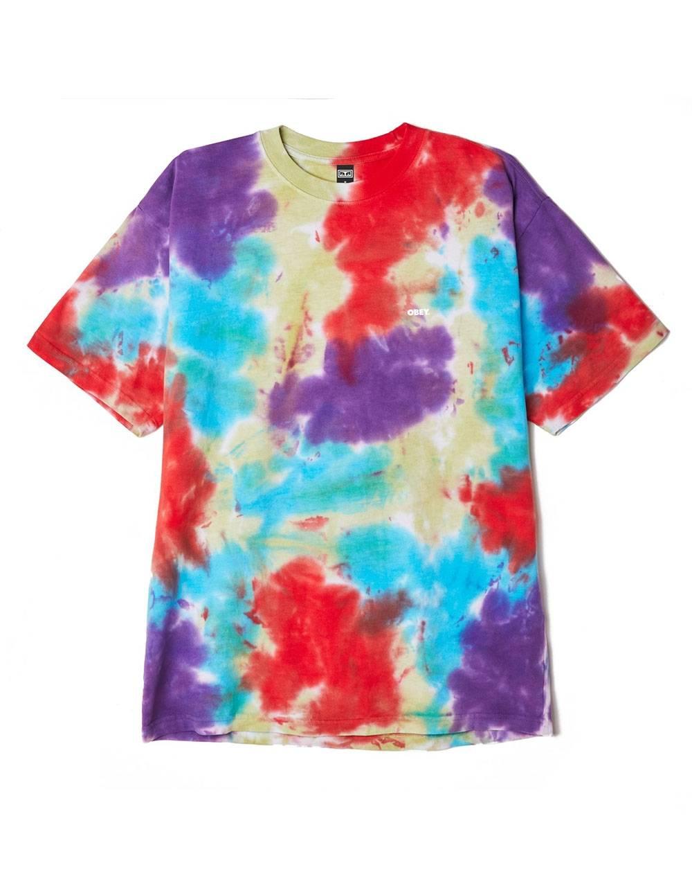 Obey Bold heavyweight blotch tie dye t-shirt - oxy fire blotch obey T-shirt 48,36€