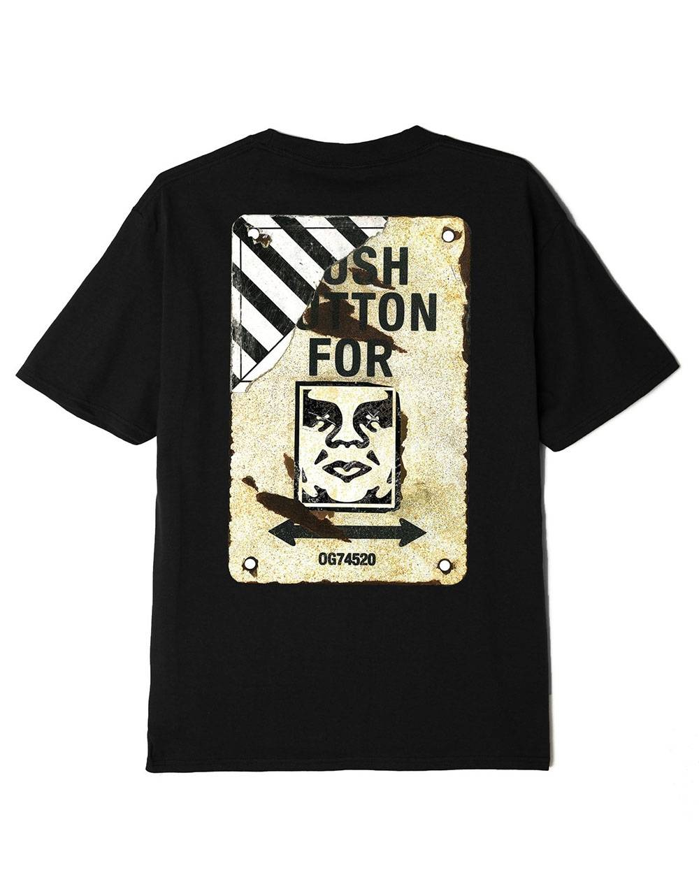 Obey Crosswalk sign sustainable t-shirt - black obey T-shirt 55,00€