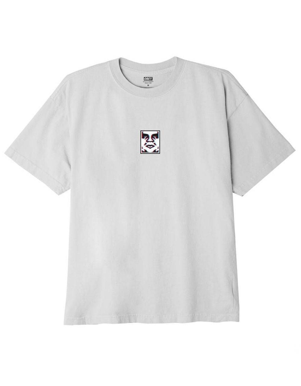 Obey double vision classic t-shirt - white obey T-shirt 45,00€