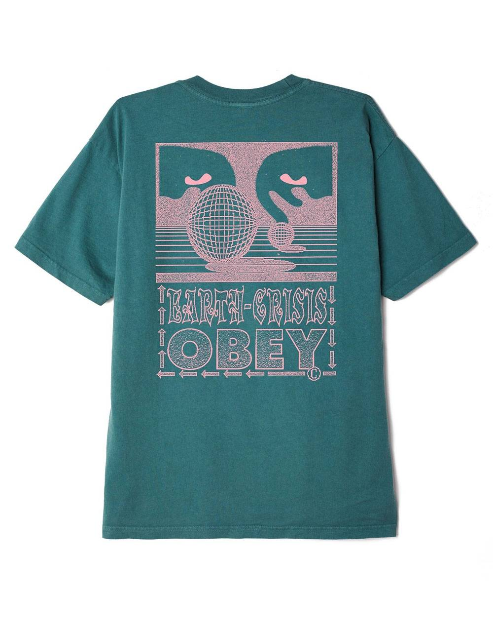 Obey Earth crisis heavyweight box fit t-shirt - velvet pine obey T-shirt 45,08€