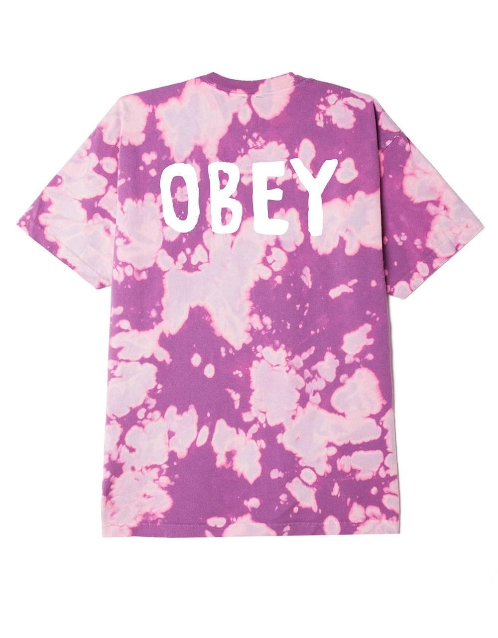Obey OG heavyweight bleach tie dye t-shirt - purple nitro obey T-shirt 59,00€
