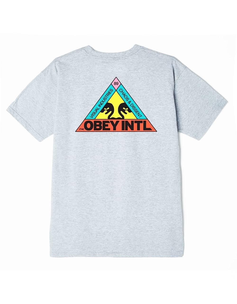 Obey trinity classic t-shirt - heather grey obey T-shirt 45,00€