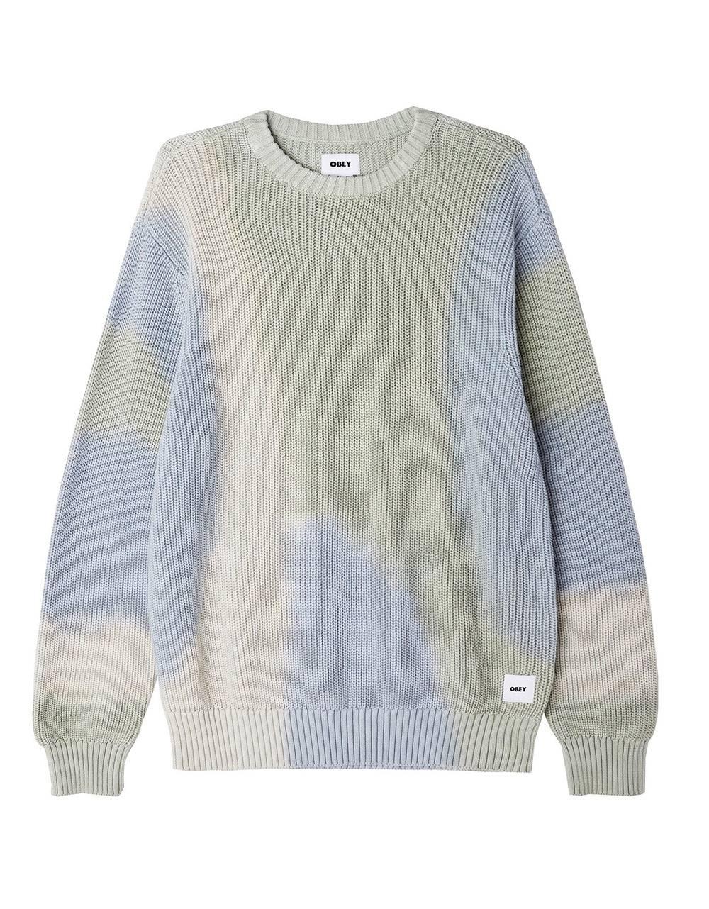 Obey Bold label organic kint sweater - good grey multi obey Knitwear 97,54€