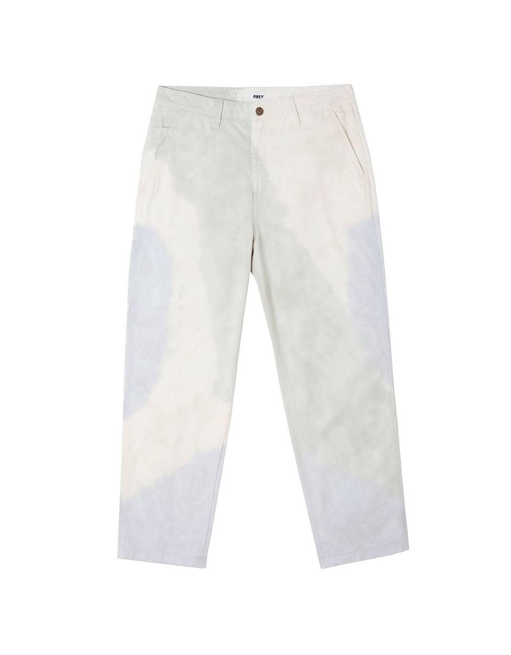 Obey Tie dye hardwork carpenter pants - good grey multi obey Pant 97,54€
