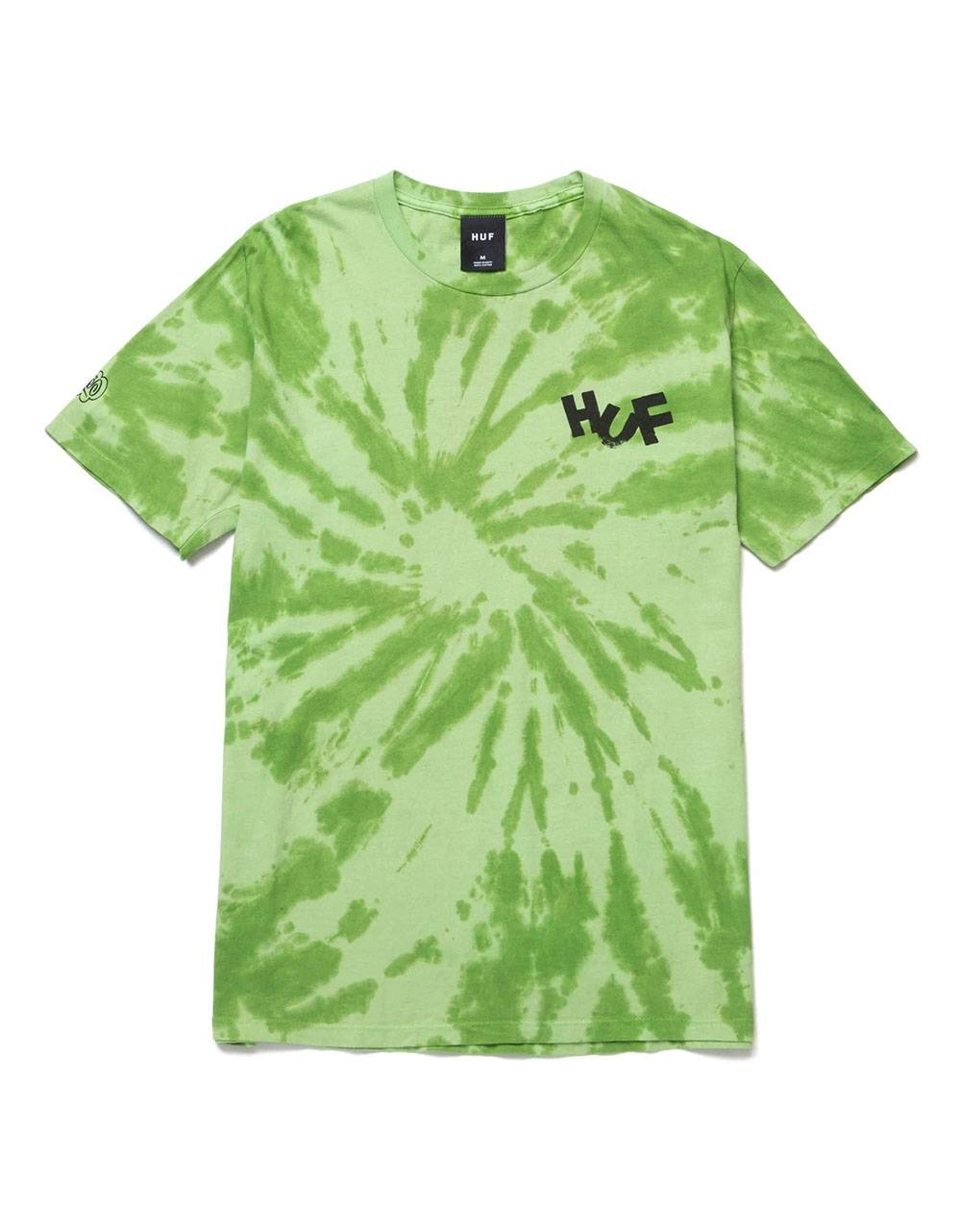 Huf Haze brush tie dye t-shirt - lime Huf T-shirt 45,08€