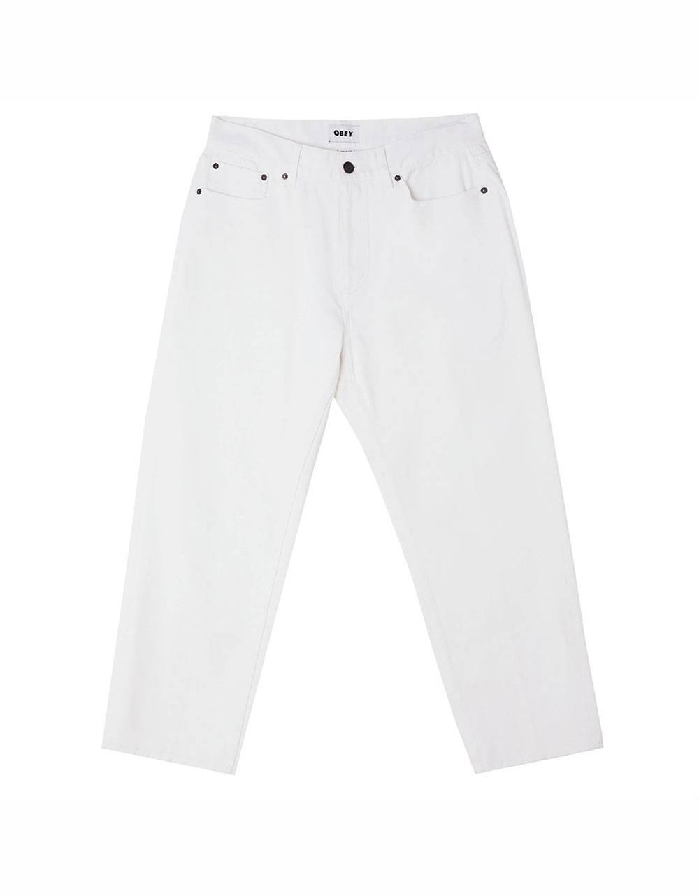 Obey Hardwork denim pants - white obey Pant 81,97€