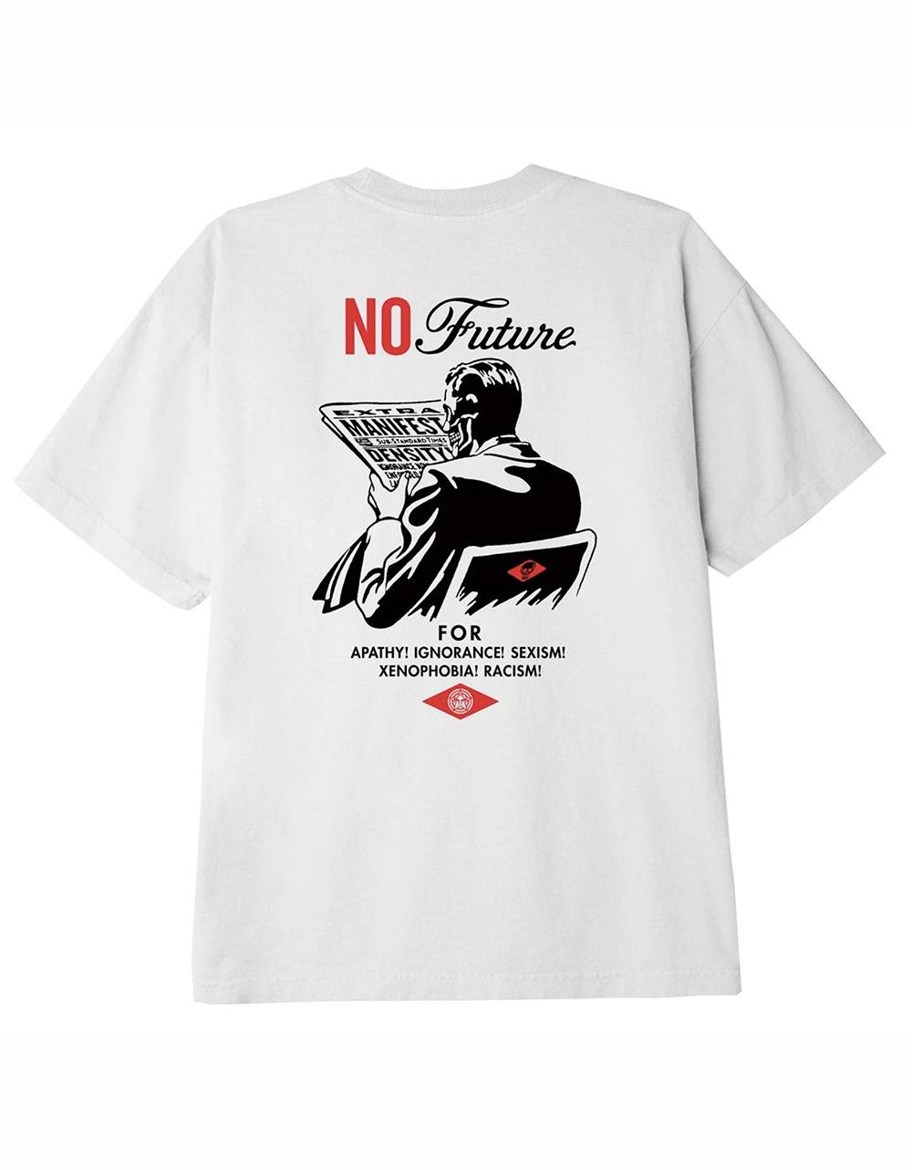 Obey No future classic t-shirt - white obey T-shirt 45,00€