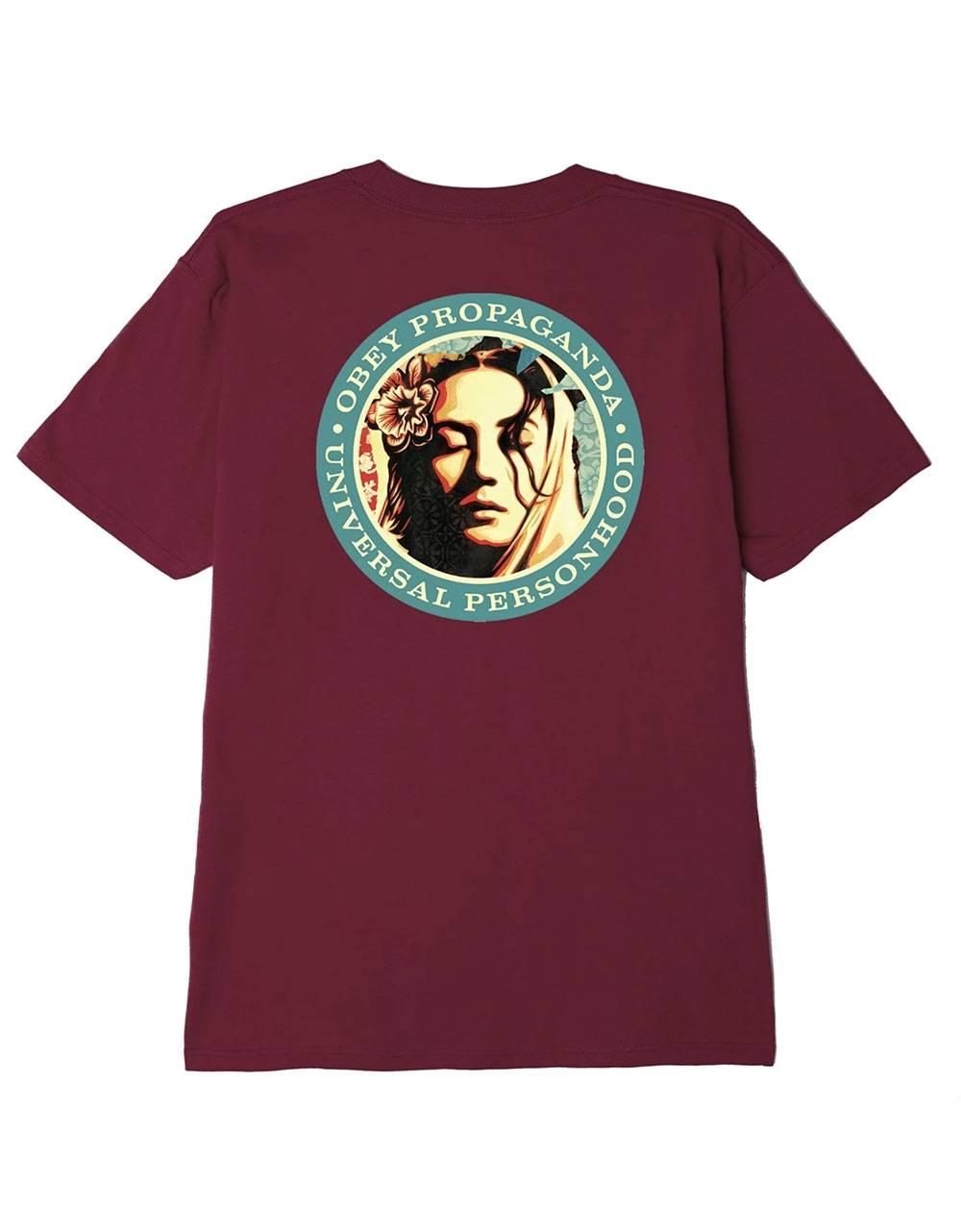 Obey Universal personhood classic t-shirt - burgundy obey T-shirt 45,00€
