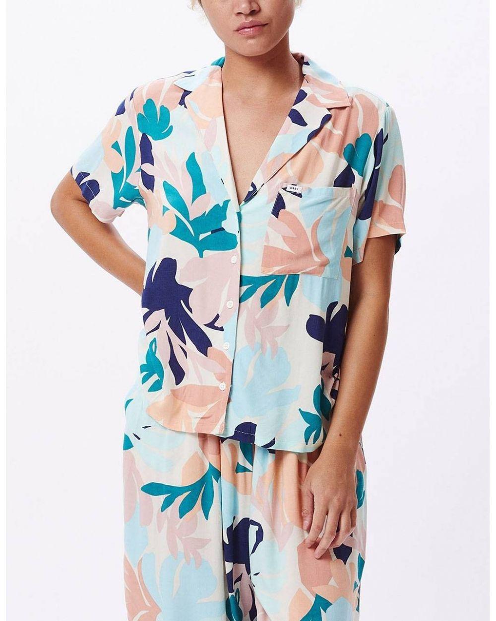 Obey Woman decoupage shirt - pecan multi obey Shirt 72,95€