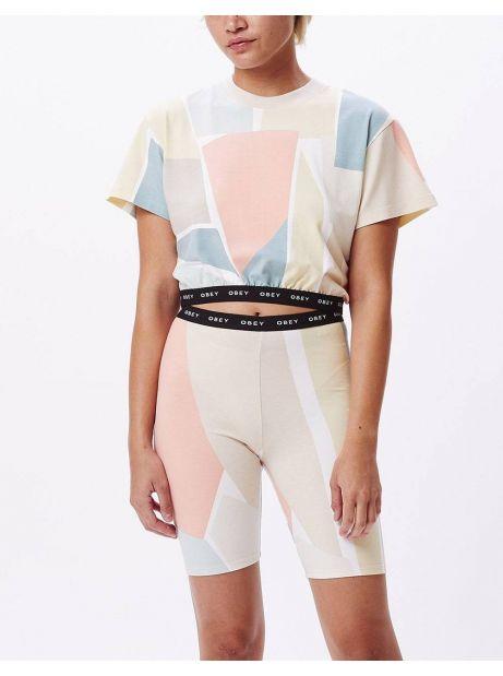 Obey Woman Glen aspen shorts - peach multi obey Shorts 69,00€