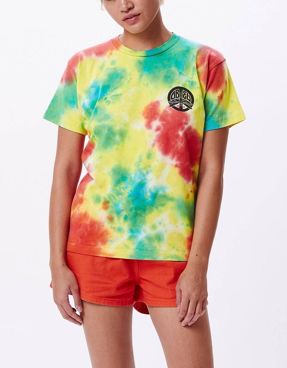 Obey Woman peace dragon custom box tee - tie dye dusky obey T-shirt 45,90€