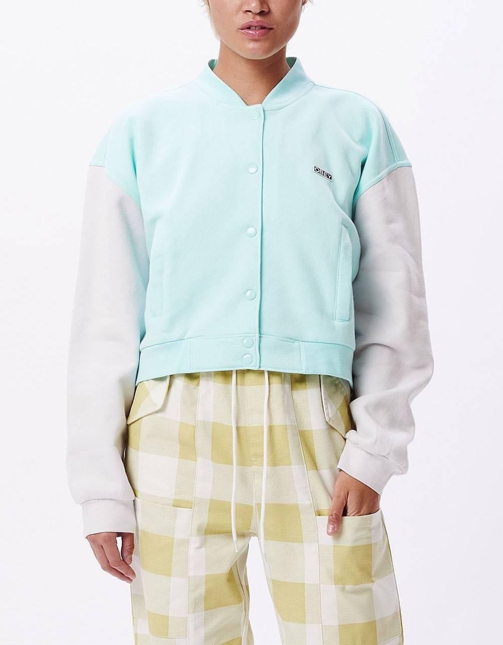 Obey Woman wrigley fleece jacket - light blue / iris obey Jacket 129,00€