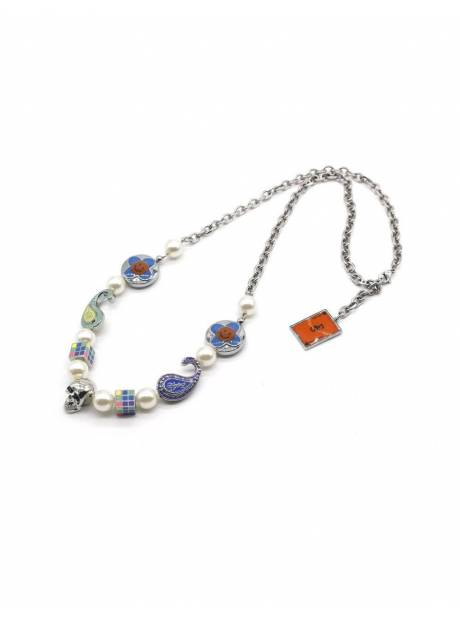 Salute + Evae Flower skull necklace Evae Necklace 125,00€