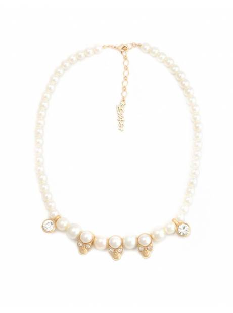 Salute + Evae Skull pearl necklace Evae Necklace 119,00€