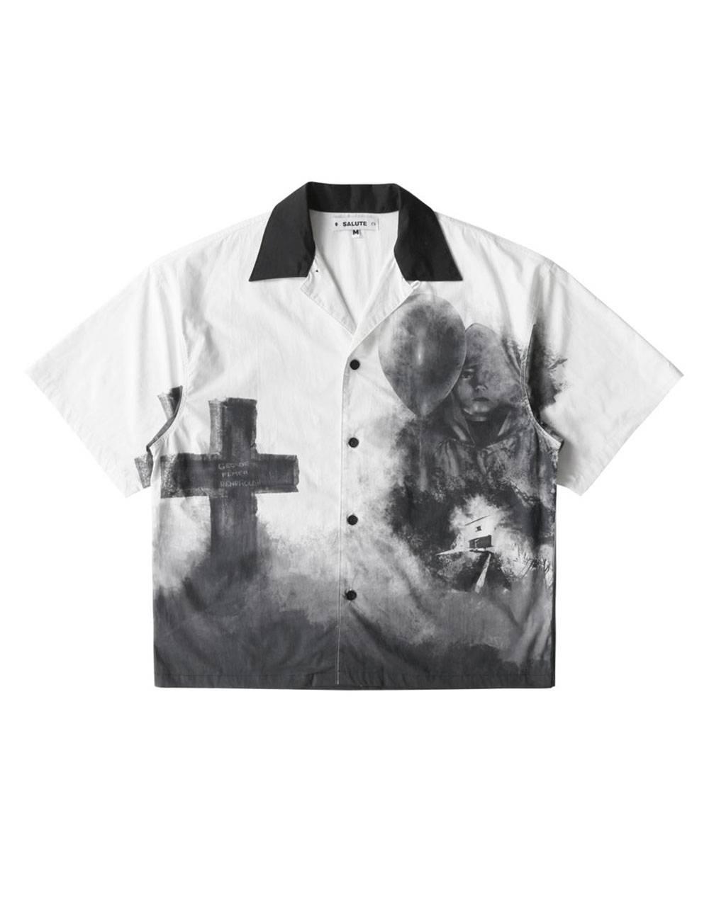 Salute HK Cross box fit shirt - white Salute HK Shirt 97,54€