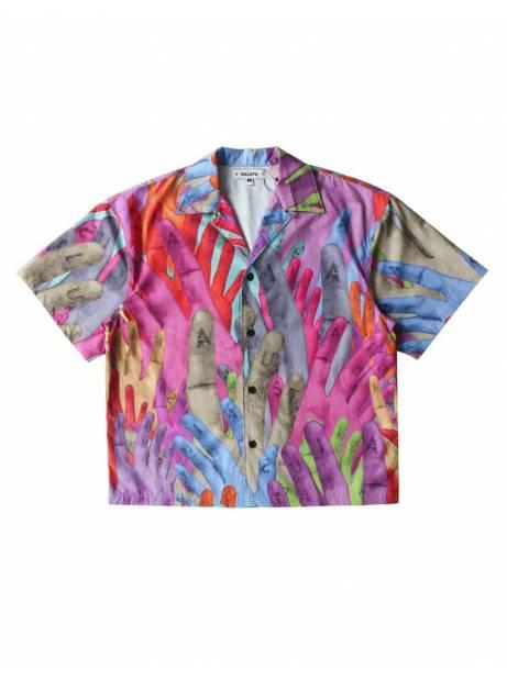 Salute HK Hand box fit print shirt - multi allover Salute HK Shirt 119,00€