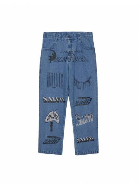 Salute HK Logo printed jeans - light washed blue Salute HK Jeans 152,46€