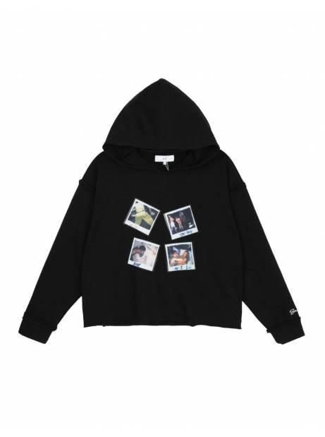 Salute HK Polaroid box fit cropped hoodie - black Salute HK Sweater 113,93€