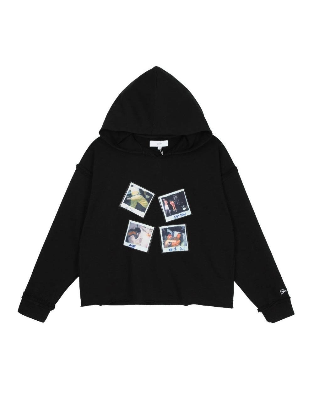 Salute HK Polaroid box fit cropped hoodie - black Salute HK Sweater 114,75€